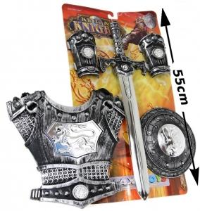 tanie zabawki Mega zestaw rycerski tarcza, miecz, naramiennik, zbroja #N1