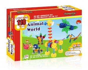 tanie zabawki KLOCKI THINKERTOY 119 EL. ŚWIAT ZWIERZĄT