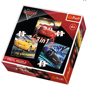 tanie zabawki PUZZLE AUTA CARS 3 3w1 20,36,50  ELEMENTÓW