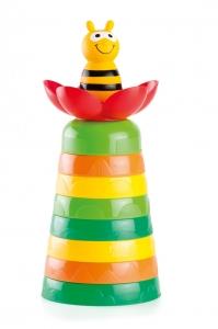 tanie zabawki MOLTO Aktywna piramida pszczółka 10 el. #S1