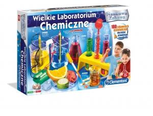 tanie zabawki WIELKIE LABORATORIUM CHEMICZNE REKLAMA CLEMENTONI