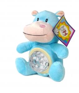 tanie zabawki HIPOPOTAM PLUSZOWY Z PROJEKTORKIEM