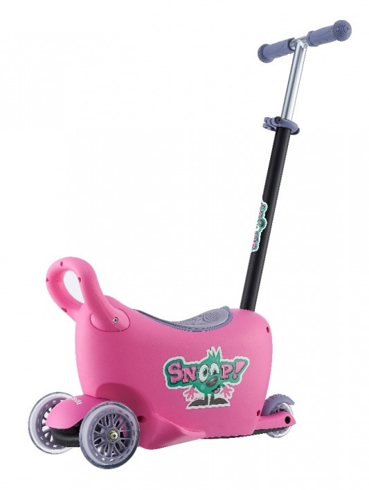 Jeździk SNOOP 3w1 pink #B1