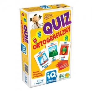 tanie zabawki GRA EDUKACYJNA QUIZ ORTOGRAFICZNY UCZY ORTOGRAFII