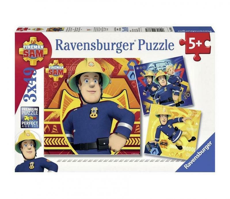 PUZZLE STRAŻAK SAM 3X49 ELEMENTÓW RAVENSBURGER