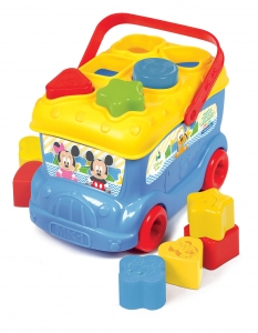 tanie zabawki AUTOBUS BABY MICKEY AUTOBUS 3 in 1  Z KLOCKAMI I SORTEREM