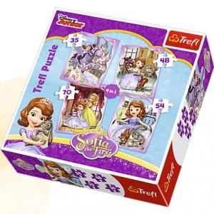 tanie zabawki PUZZLE 4w1 JEJ WYSOKOŚĆ ZOSIA 35, 48, 54, 70 ELEMENTÓW