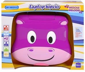 tanie zabawki LAPTOP INTERAKTYWNY E-EDU HIPCIO MÓWIĄCY PO POLSKU