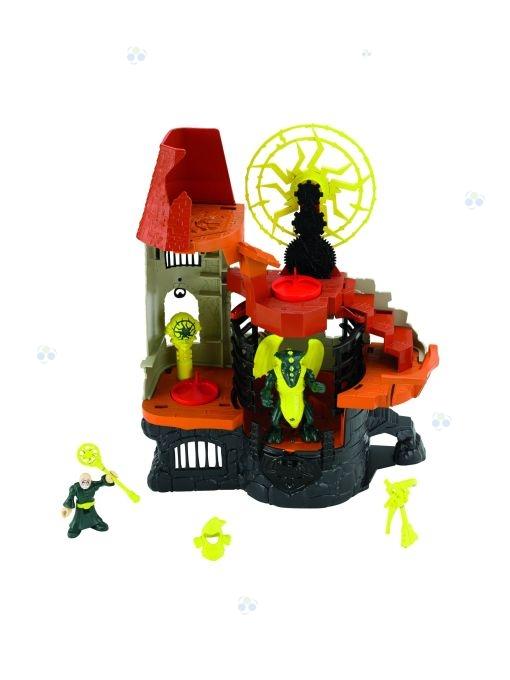 Wieża czarnoksiężnika ze smokiem Fisher Price Action Tech*