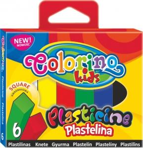 tanie zabawki PLASTELINA KWADRATOWA 6 KOLORÓW COLORINO KIDS