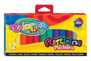 tanie zabawki PLASTELINA 12 KOLORÓW COLORINO KIDS
