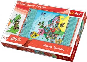 tanie zabawki PUZZLE EDUKACYJNE 200 EL MAPA EUROPY