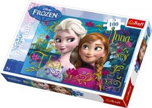 tanie zabawki PUZZLE FROZEN ANNA I ELSA 100 EL