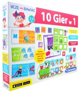 tanie zabawki 10 W 1 ZESTAW EDUKACYJNYCH GIER UCZĘ SIĘ BAWIĄC