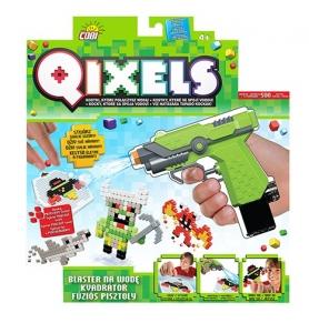 tanie zabawki QIXELS BLASTER NA WODĘ 500 KOSTEK 3D REKLAMA TV