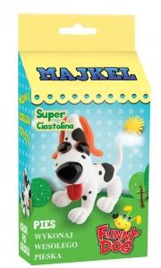 tanie zabawki SUPER CIASTOLINA ZESTAW DO ZROBIENIA PIESKA BIAŁY W ŁATKI