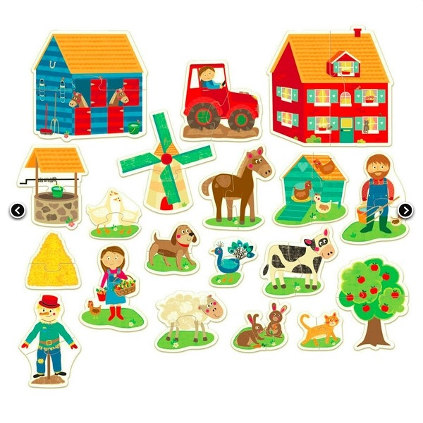 MONTESSORI PIERWSZE PUZZLE FARMA OD 2 DO 5 LAT HEADU