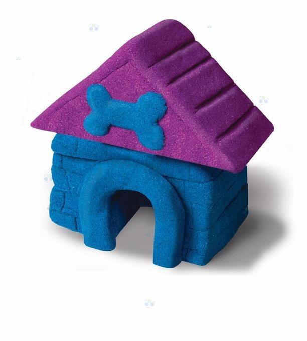 Kinetic Sand piasek konstrukcyjny purpura-niebieski 454g